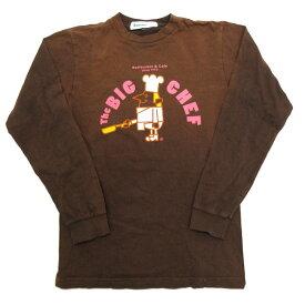 ランドリー/Laundry the BIG CHEFプリント長袖Tシャツ/カットソー☆茶【S】MENS【中古】