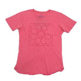 12SS■ノンネイティブ/NONNATIVEポケット付きスターTシャツSTAR TEE■ピンク【0】柄前面/T【中古】