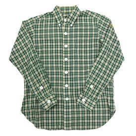 エフエーティー/FAT DEKACHEKデカチェック長袖BDシャツ■緑【TITCH】MENS/細身【中古】