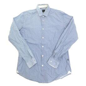 ■ヒューゴボス/HUGO BOSSスリムフィット長袖シャツ/ワイシャツ■水色【M】SLIM FIT【中古】