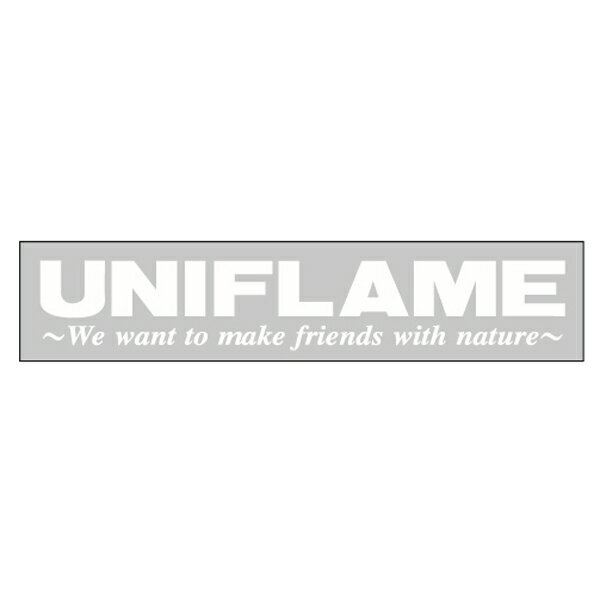 UNIFLAME ユニフレーム UFステッカー ホワイト 690079