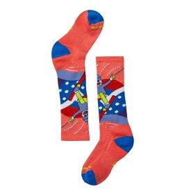 SmartWool スマートウール Ks ウィンタースポーツイエティベティー/ブライトコーラル/M SW72055001005アウトドアウェア 子供用ソックス ソックス タイツ 靴下 ピンク 子供用