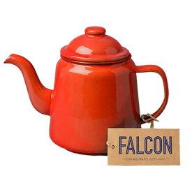 FALCON ファルコン エナメルウェア ティーポット レッド 7FCTPREDアウトドアギア ポット、ケトル アウトドア バーべキュー クッキング用品 クッキング レッド
