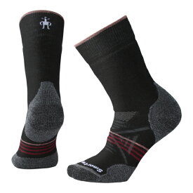 SmartWool スマートウール Ws PhDアウトドアミディアムクルー/ブラック/チベタンレッド/S SW71129008004アウトドアウェア 女性用ソックス ソックス レディースウェア 靴下 ブラック 女性用 おうちキャンプ