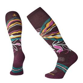 SmartWool スマートウール Ws PhDスキーミディアムパターン/ボルドー/S SW71667001004アウトドアウェア 女性用ソックス ソックス レディースウェア 靴下 パープル 女性用