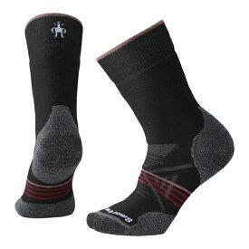 SmartWool スマートウール Ws PhDアウトドアミディアムクルー/ブラック/チベタンレッド/M SW71129008005アウトドアウェア 女性用ソックス ソックス レディースウェア 靴下 ブラック おうちキャンプ