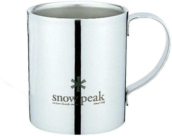 snow peak スノーピーク スノーピークロゴダブルマグ 240 MG-112R