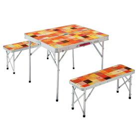 Coleman コールマン ナチュラルモザイクファミリーリビングセットミニ プラス 2000026758アウトドアギア テーブルセット レジャーシート テーブル ベランピング おうちキャンプ
