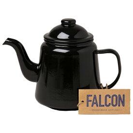 FALCON (ファルコン エナメルウェア) ティーポット ブラック 7FCTPBLKアウトドアギア ポット、ケトル アウトドア バーべキュー クッキング クッキング用品 ブラック