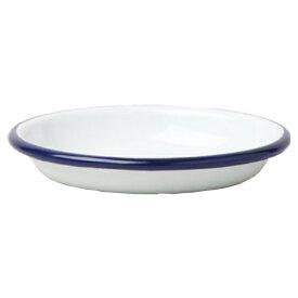 FALCON ファルコン エナメルウェア ソースディッシュ/スモール/ブルーリム 7FCSDSWHTアウトドアギア テーブルウェア(プレート) テーブルウェア アウトドア キャンプ用食器 皿 おうちキャンプ