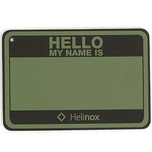 Helinox Home ヘリノックス ホーム Hello my name isパッチ/フォリッジ 19759017アウトドアギア ファニチャー用アクセサリー テーブル レジャーシート イス グリーン ベランピング おうちキャンプ