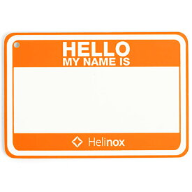 Helinox Home ヘリノックス ホーム Hello my name isパッチHO 19759017オレンジ