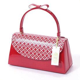 バッグ 成人式 振袖 fussa 日本製 クリスタルパンチングバッグ 赤