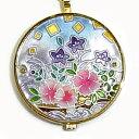 懐中時計 着物に似合う存在感 京七宝 源氏物語に恋する懐中時計 澪標(紫) 記念品・プレゼントにも