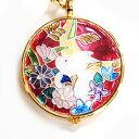 懐中時計 着物姿に気品ある和装時計を‥ 京七宝 恋うさぎ懐中時計(うさぎのメロディ− 赤) H2730