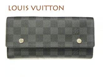 LOUIS VUITTON路易威登N63084ダミエグラフィット長錢包ポルトフォイユモデュラブル