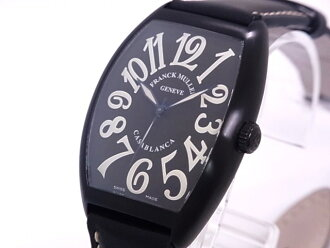 Franck Muller FRANCK MULLER 6850 SC CASA NR Casablanca limited 100 this SS × leather black dial automatic movement