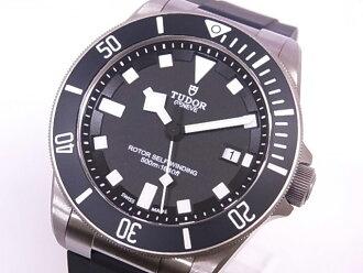 都鐸王朝都鐸 25500TN Pelagos TI x 橡膠黑色錶盤自動機芯