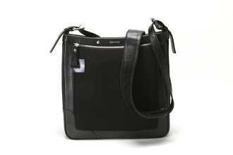 BURBERRY Burberry men's shoulder bag leather / canvas black