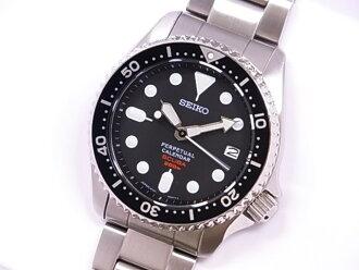 品牌新的以及精工精工 SBCM023 8F35 ProspEx 潛水者古巴萬年曆 SS 黑版