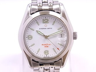 ETERNA Eterna 1571.41 エテルナマチックコンチキ SS white clockface self-winding watch