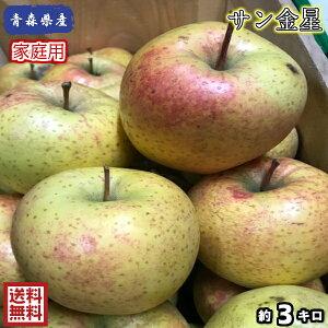 【送料無料】数量限定!お試し品!青森県産 サン金星 家庭用 3kg(約3キロ)  晩生種りんご 食品 果物 フルーツ お取り寄せグルメ