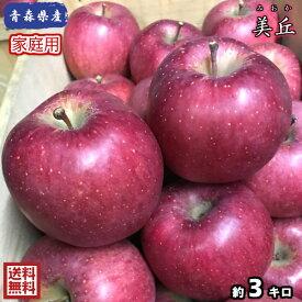 奇跡の再入荷!!超希少!りんごの中でもトップクラスの果汁の多さ!!【送料無料】数量限定!青森県産 美丘 家庭用 3kg(約3キロ)  晩生種りんご 食品 果物 フルーツ お取り寄せグルメ