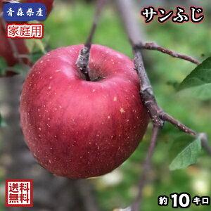 【送料無料】青森県産 サンふじ 家庭用 10Kg(約10キロ)  晩生種りんご 食品 果物 フルーツ お取り寄せグルメ