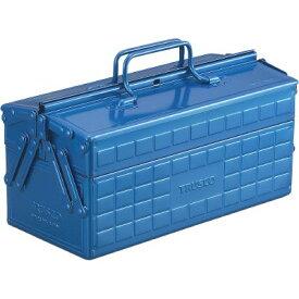 トラスコ中山 TRUSCO 2段工具箱長さ350幅160高さ215青 ST-350-B (P)