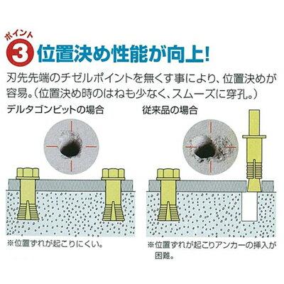ミヤナガデルタゴンビットSDS-プラスSDS-plus五本組3.4mmDLSDS34P5