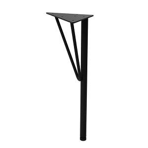 平安伸銅 Weekend Workshop スチールローテーブル脚 高さ37.5cm 【1本売り】 WTK-2 黒