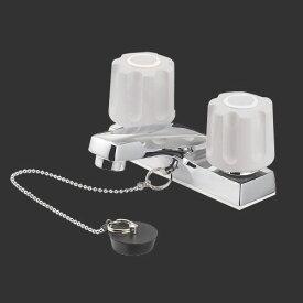 三栄水栓 SANEI ツーバルブ洗面混合栓《混合栓/台付ツーバルブ(ミキシング)》(洗面所用) [K51-LH-13]