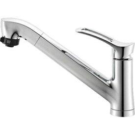 三栄水栓 SANEI シングルワンホールスプレー混合栓《混合栓/ワンホールシングルレバー式》(キッチン用) [K87120JV-13]