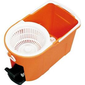 アイリスオーヤマ 回転モップ洗浄機能付き KMO-490S オレンジ
