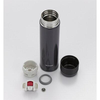 タイガーステンレスボトルサハラスリム0.5LメタリックブラックMSE-A050KM