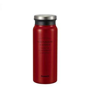 ピーコックPeacock 【保温・保冷】牛乳瓶型直飲みスクリューマグ(600ml/0.6L) [AMZ-60-R/レッド]