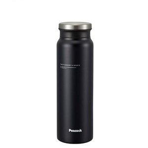 ピーコックPeacock 【保温・保冷】牛乳瓶型直飲みスクリューマグ(800ml/0.8L) [AMZ-80-BD/マットブラック]