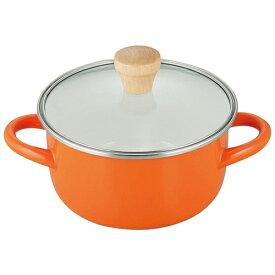和平フレイズ プチなべ IH対応ホーローちょっと深型鍋16cm(オレンジ) PR-8132