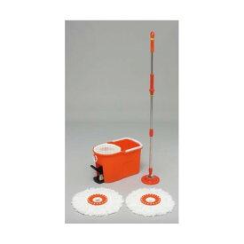アイリスオーヤマ 回転モップ 洗浄機能付き KMO-490S オレンジ