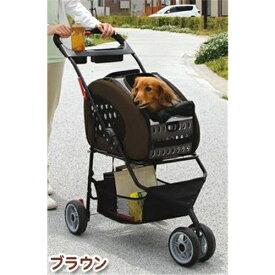 アイリスオーヤマ 4WAYペットカート(犬・猫用 キャリーバッグ ) ブラウン FPC-920