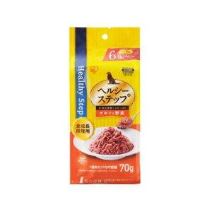 アイリスオーヤマ [犬用]ヘルシーステップレトルト チキンと野菜 全成長段階用 70g×6個 HRCV706