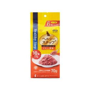 アイリスオーヤマ [犬用]ヘルシーステップレトルト チキンと野菜 10歳以上用 70g×6個 HRCV706-10