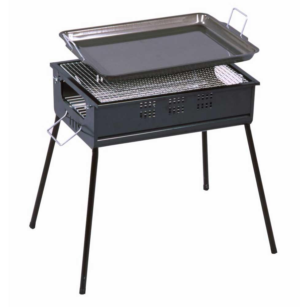 グリーンライフ BBQコンロ バーベキューコンロ 45cm 鉄板付き CBN-450 (4-5人用)
