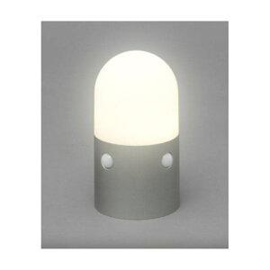 アイリスオーヤマ 乾電池式LEDセンサーライト スタンドタイプ 丸型電球色 OSL-ML2M-WS [ウォームシルバー]