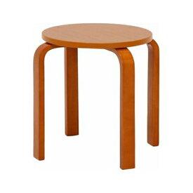 不二貿易 木製曲脚椅子(イス) ブラウン