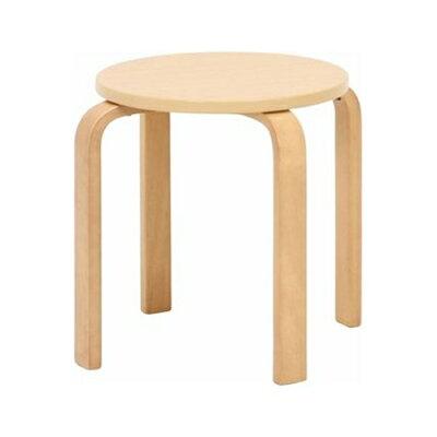 不二貿易木製曲脚椅子(イス)ナチュラル