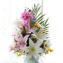 造花 仏花 胡蝶蘭やユリのパープル系の仏様の大きな花束(一束) CT触媒 造花 シルクフラワー お彼岸 お盆 お仏壇 仏花 お墓 花 お供え …