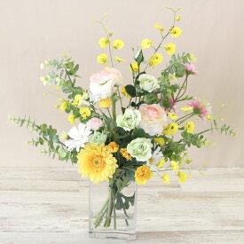 造花 ガーベラとローズのマジカルウォーターアレンジr 造花 シルクフラワー CT触媒
