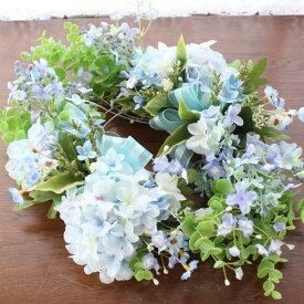 造花 ライラックと紫陽花のスワッグ (ゴム付)ブライダル ウェディング 造花 シルクフラワー あじさい アジサイ CT触媒