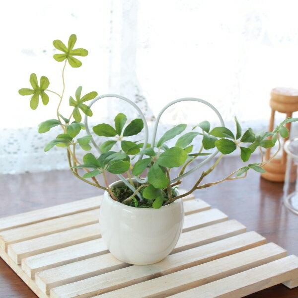 人工観葉植物 ラブリーハートのプチグリーン シュガーバイン 造花 シルクフラワー CT触媒